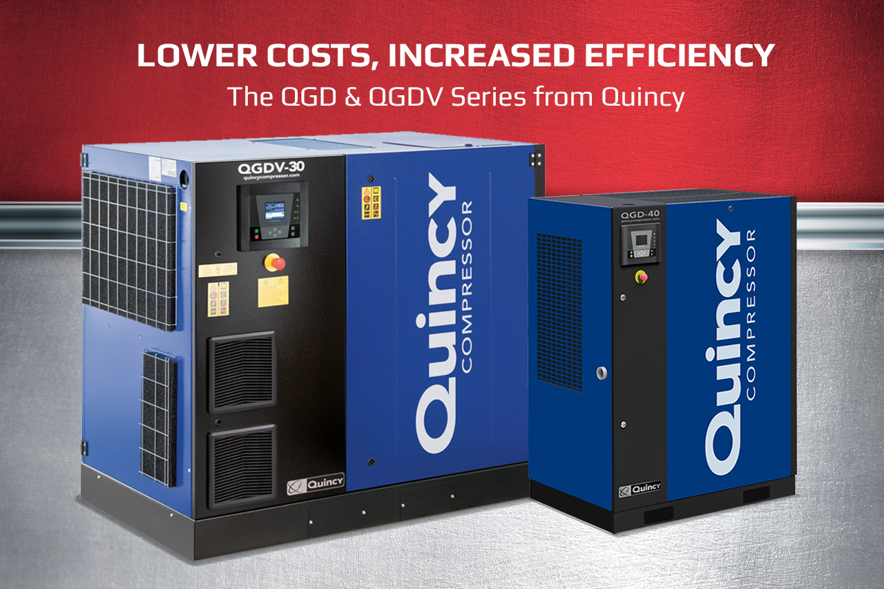 Lower costs, increased efficiency: The new Quincy QGD and QGDV Series air compressors